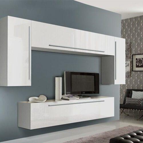 Witte hoogglans meubels