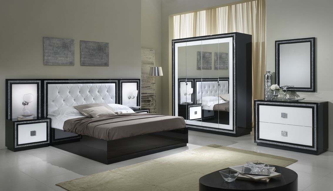 Kristal slaapkamerset sefa meubel for Chambre a coucher versace